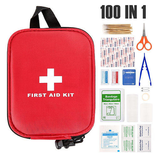 100 in 1 Portable Outdoor First Aid Kit