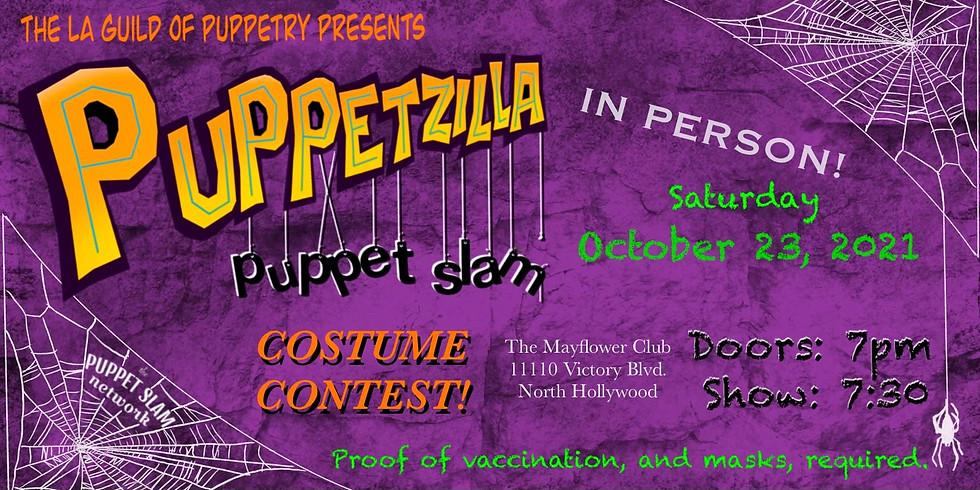 Puppetzilla Puppet Slam (IN PERSON) - Halloween Edition