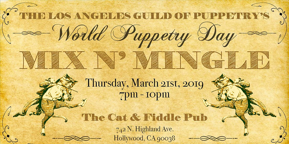 World Puppetry Day Mix n' Mingle!