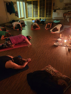Evening restorative yoga