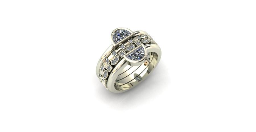Mix & Match Diamond Stacking Rings