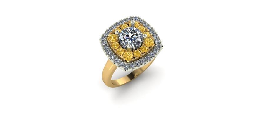 Fancy Yellow Diamond Halo