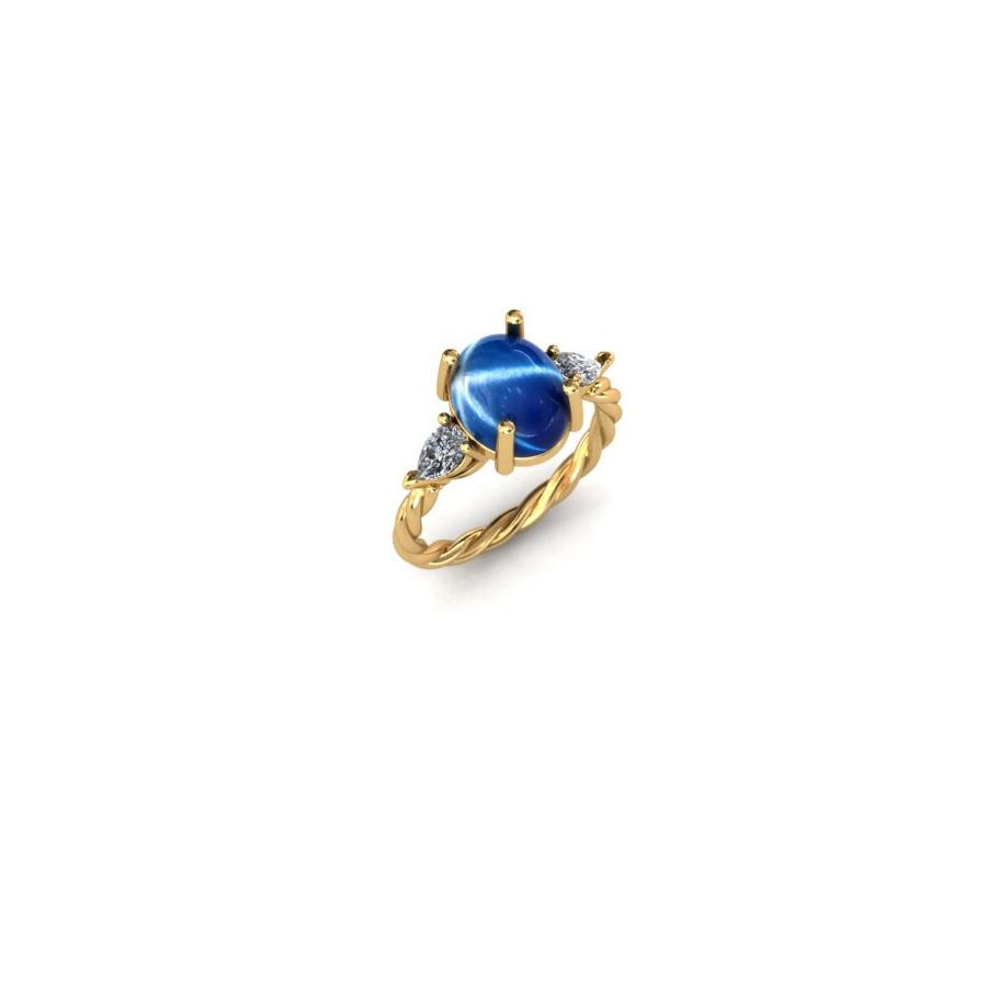 Star Sapphire Engagement Ring