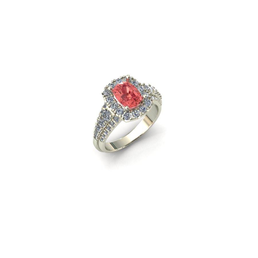 Padparadscha Sapphire Engagment Ring