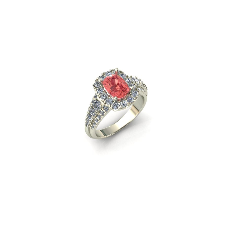 Padparadscha Sapphire Engagment Ring