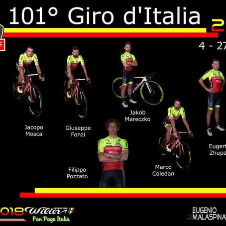 הוכרז הרכב קבוצת Wilier Selle Italia ל-Giro הקרוב