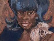 somaya-critchlow-kims-blue-hair-with-dog