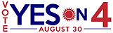 Vote Yes on Amendment 4 August 30 Logo