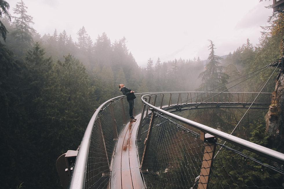 Coaching Hanne Rohrauer: ein auf einer Brücke in der Natur