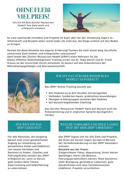 Zuercher Ressourcenmodell Hanne Rohrauer