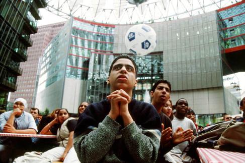 Tunisia (vs Belgium). 10 June 2002.  Sony Centre, Potsdamer Platz, Berlin