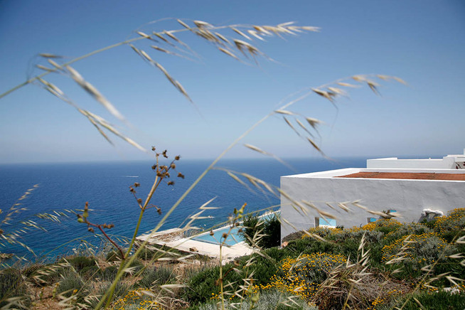 Oliaros development. Antiparos, Greece. Landscape design by doxiadis+. House designed by Tala Mikdashi Studio