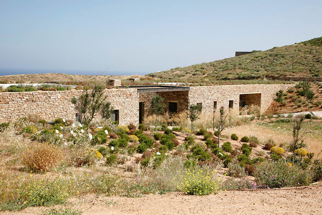 Oliaros development. Antiparos, Greece. Landscape design by doxiadis+. House designed by decaArchitecture