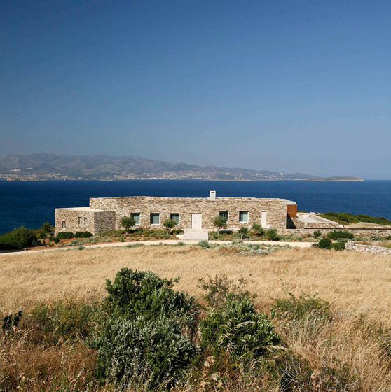 Antiparos, Greece. Landscape design by doxiadis+. House designed by Katerina Tsigarida Architects