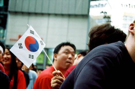 Korea (vs USA). 10 June 2002. Sony Centre, Potsdamer Platz, Berlin