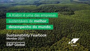 Klabin está entre as empresas mais sustentáveis do mundo no segmento de embalagens