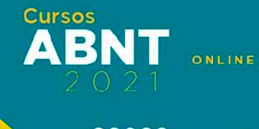 ABNT - Próximas Turmas 2021 - ONLINE (ao vivo) - abril e maio/2021