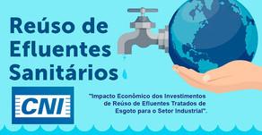 CNI realiza Live para debater sobre o impacto econômico dos investimentos de reúso de efluentes