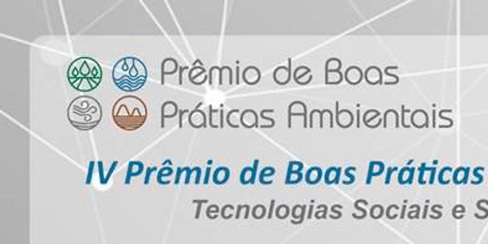 IV Prêmio de Boas Práticas Ambientais 2020: Tecnologias Sociais e Sustentáveis