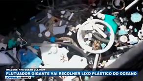 Flutuador gigante vai recolher lixo plástico do oceano