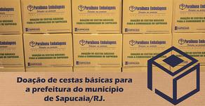 Paraibuna Embalagens doa mais cestas básicas para Sapucaia/RJ