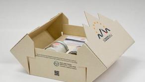 Um olhar mais atento sobre a caixa de papelão ondulado do ICP feita de caules de tomate