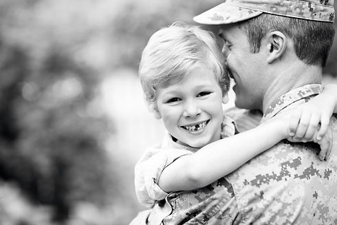 Military dad and son_BW.jpg