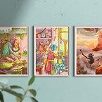 A3 fantasy art prints: Bundle of 3