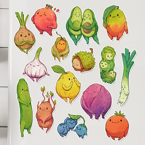 Veggie Magnet: Bundle of 15