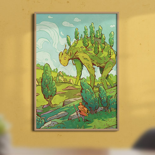 A4 forest guardian art print