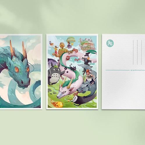 A6 Fantasy art postcard: Bundle of 3