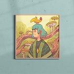 Bananabird art print