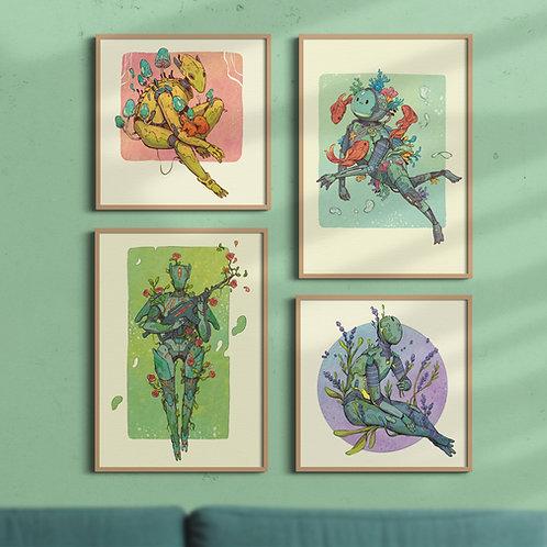 A3 Botanical Bot art prints