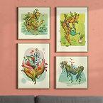 A4 Botanical Bot art prints