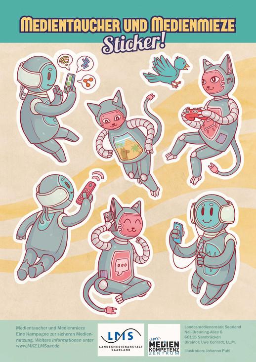 Media robot stickers