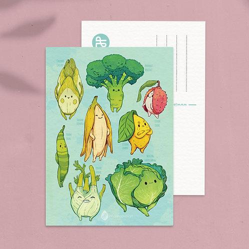 A5 Art postcard Veggies