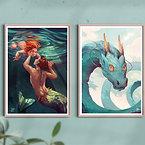 A3 Fantasy art prints: Bundle of 2