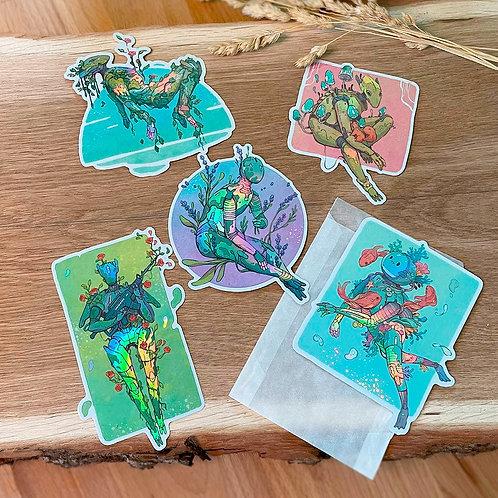 All Botanical Bot Holo Stickers!
