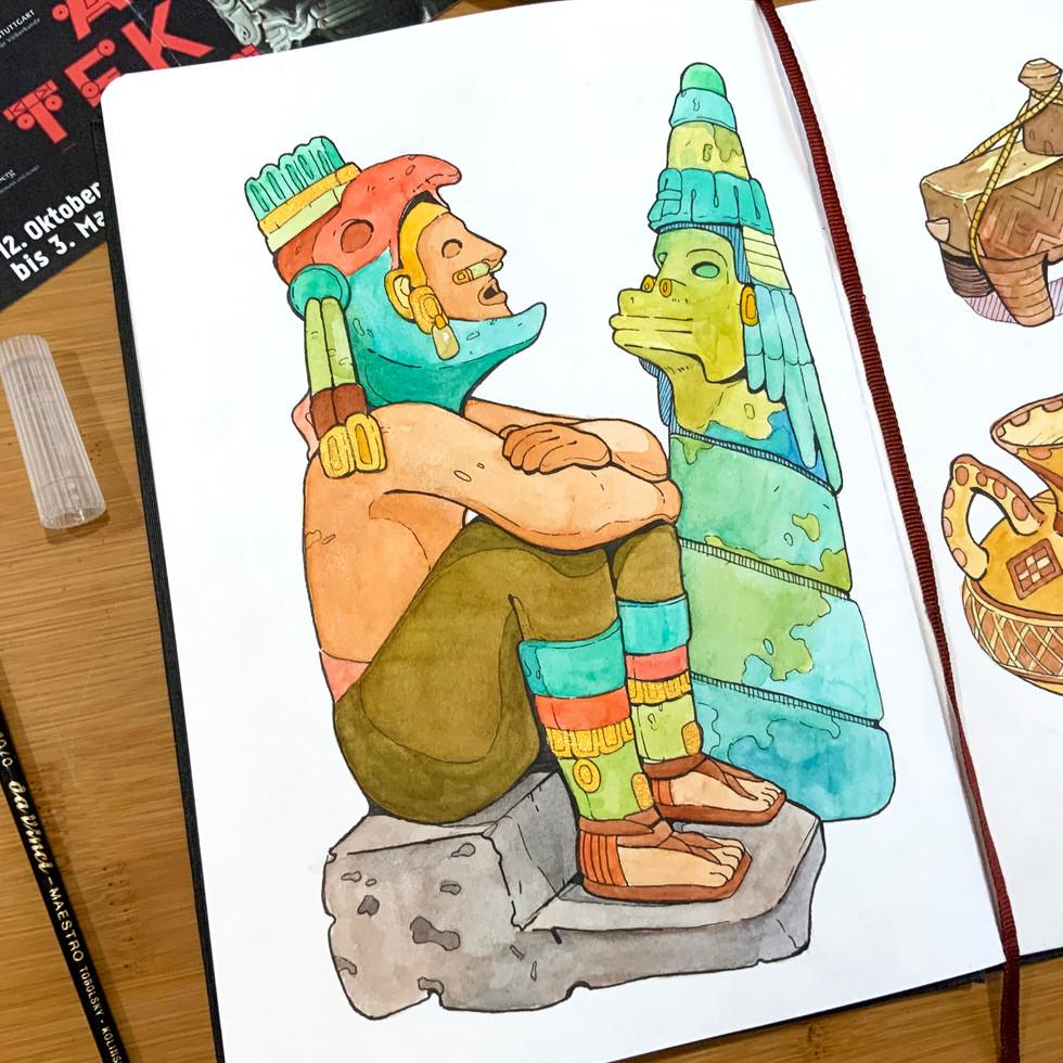 Aztec Sketchbook Closeup