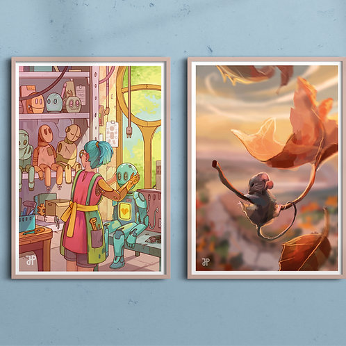 A4 Fantasy art prints: Bundle of 2