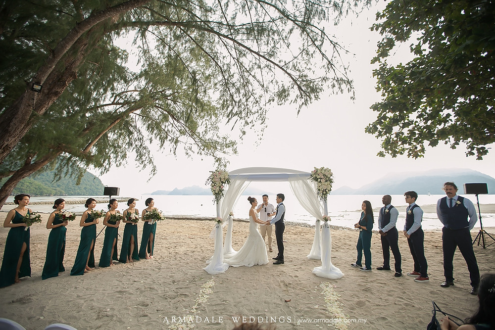 langkawi beach wedding