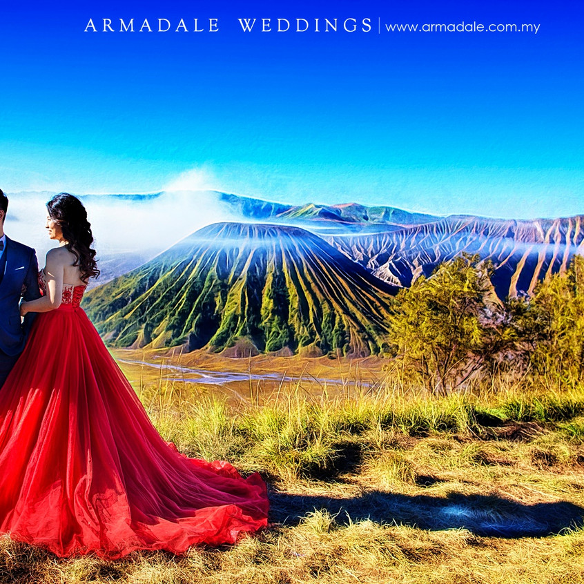 red gown prewedding