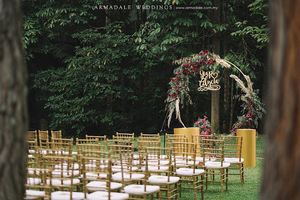 Garden wedding in Janda Baik