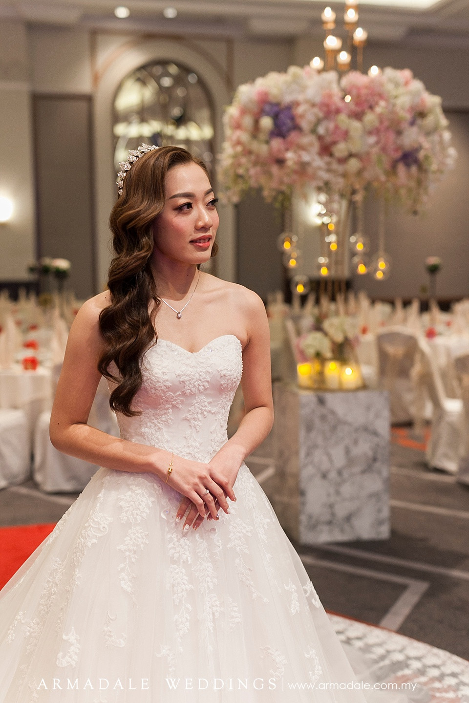 ball gown with lace