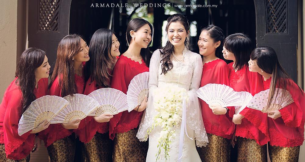 akad nikah bride bridesmaids