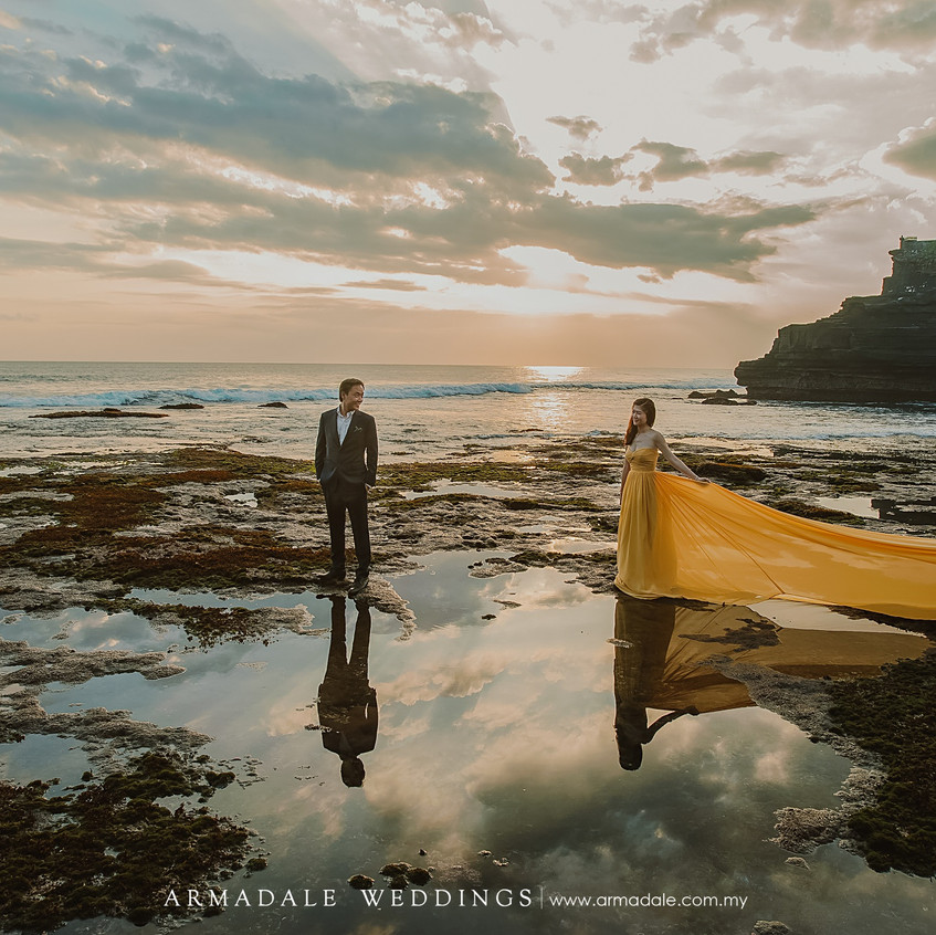gown for prewedding yellow