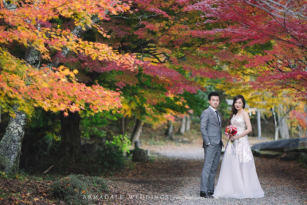 autumn kyoto japan prewedding