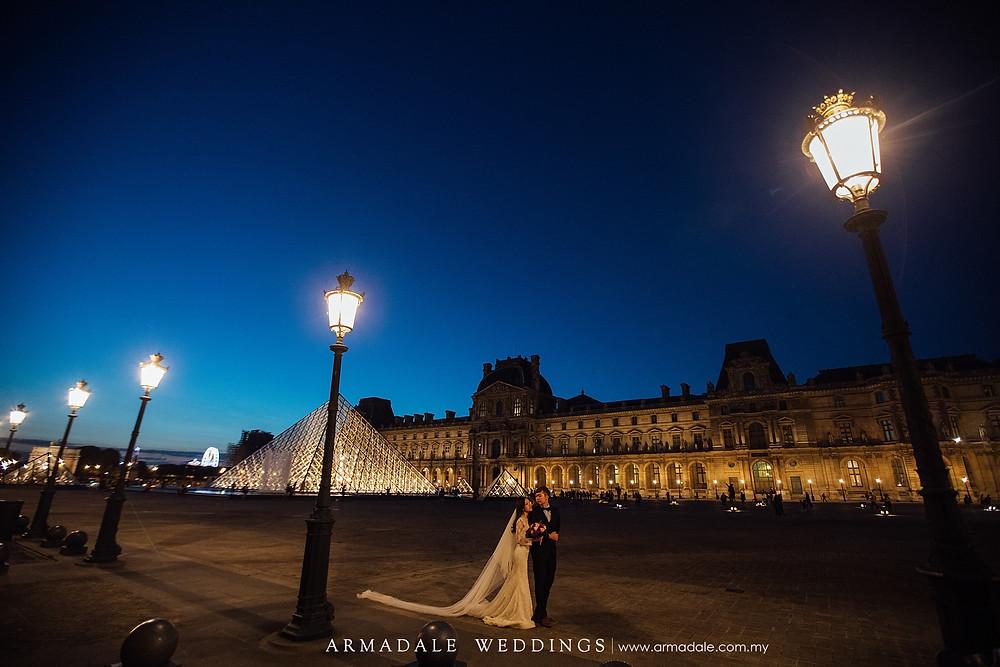 Paris night pre-wedding location