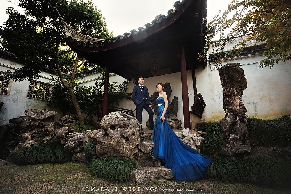 Suzhou Prewedding navy blue gown