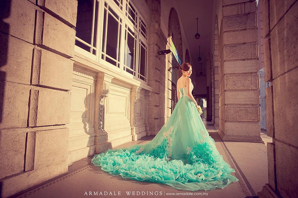 Tiffany blue gown rental